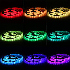 color led light strips excelvan 5m 300leds smd 5050 rgb flexible led strip light kit
