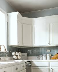 How To Distress White Kitchen Cabinets How To Add Height To Kitchen Cabinets