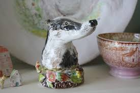 Badger Weathervane Julie Whitmore Pottery Flower Power