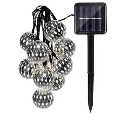 Solar Lighting Indoor by Icicle Solar Moroccan Ball String Lights 11ft 10 Led Large Size