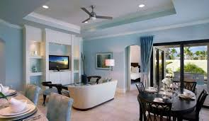 Kitchen Livingroom by Light Blue Walls Rendering Living Room Youtube