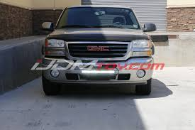 Led Light Bar Truck Mount Led Light Bar W Front License Plate Kit For Your Truck