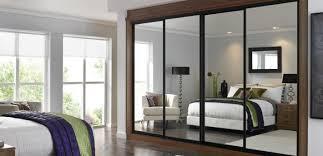 Espresso Closet Doors Stylish Bifold Closet Doors Of Espresso Tint Bedroom Ideas