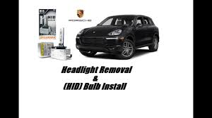 2010 porsche cayenne how to change front turn signal light or