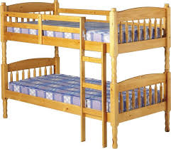 Albany Old Antique Pine Bunk Bed And Azarra Budget  Mattress - Pine bunk bed