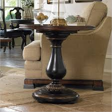 round wood accent table round pedestal accent table iron wood throughout side decorations 4