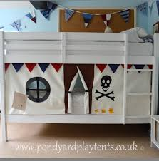 turn bunk bed into fort mount curtains tent top lanterns cute pirate gifts for kids talk like day bunk bed