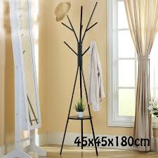 metal tree style coat stand 45x45x180cm floor type hanger creative