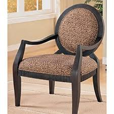 Leopard Print Accent Chair Amazon Com Powell Leopard Oval Back Accent Chair 18 3 4 Inch