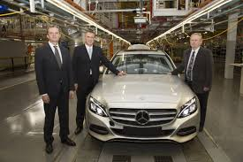 mercedes factory 2015 mercedes c class production starts in east london