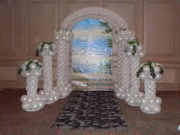 wedding arch balloons balloon decoration 10 fresno party rental and supplies