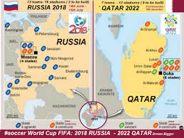 russia world cup cities map qatar soccer world cup 2022 dieulois
