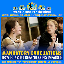 How To Go Blind World Access For The Blind Hurricane Irma