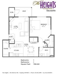 floor plan and ameneties the heights
