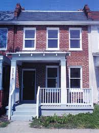 Row House Front Elevation - solar technology u2014sustainability guidelines u2014technical preservation