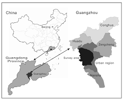 Guangzhou China Map by Residents U0027 Intermarriage Behavior In Guangzhou China In Last 60 Years