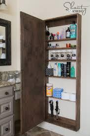 Bathroom Cabinet Wall Diy Bathroom Mirror Storage Case Shanty 2 Chic