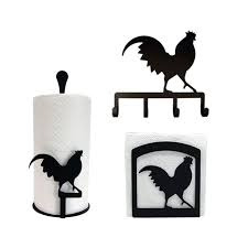 Black And White Rooster Decor Rooster Kitchen Decor Set Country Kitchen Decor