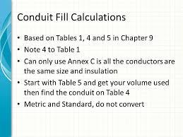 Conduit Fill Table 2014 Nec C Ode C Hanges C Lass P Art Ii Ted U201csmitty U201d Smith 8 15