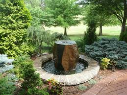Rock Fountains For Garden Garden Patio Arbor Redbud Design