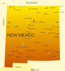 Cities In Colorado Map by New Mexico Map Blank Political New Mexico Map With Cities