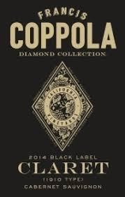 francis coppola diamond collection francis coppola 2014 black label claret diamond collection cabernet