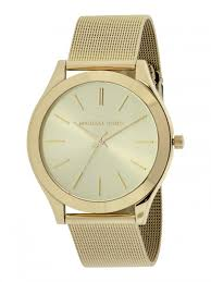 gold mesh bracelet images Michael kors ladies slim runway watch gold mesh bracelet gold dial jpg