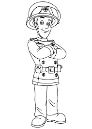 picture fireman sam coloring coloring sky