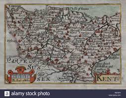 Map Of Kent England by Antique Map Of Kent Pieter Van Den Keere C1660 From The Pocket
