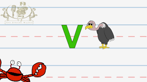 Abc Worksheets For Toddlers Write The Letter V Alphabet Writing Lesson For Children The