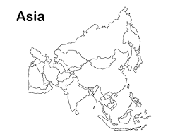 asia map coloring page east asia in world map coloring page