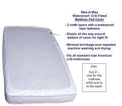 Fitted Crib Mattress Pad Colgate Wee A Way Waterproof Crib Mattress Pad