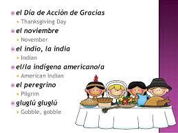 thanksgiving vocabulary slideshow