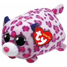 ty beanie boos teeny tys olivia leopard stackable plush stuffed