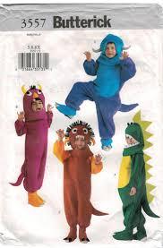 Butterick Halloween Costume Patterns Butterick Pattern 3557 Halloween Costume Monsters Dinosaurs