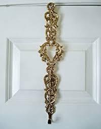wreath hangers brass scroll wreath holder solid