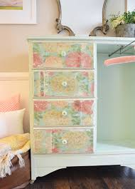 Baby Furniture Armoire Decoupage Using Napkins On Wood Furniture Hearts U0026 Sharts