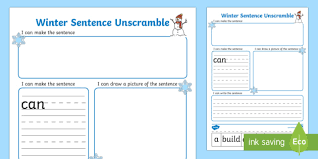 write sentences by sequencing sentences year 1 page 1