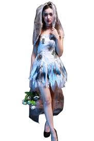 Corpse Bride Costume Womens Spaghetti Straps Cosplay Halloween Corpse Bride Costume