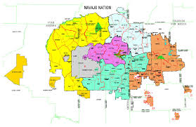New Mexico County Map by Maps Navajo Land Department
