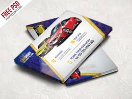 car dealer business card template free psd download download psd
