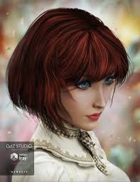 slight bob hairstyle razor cut bob hair for genesis 3 female s 3d models and 3d