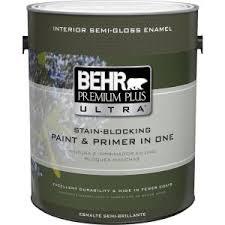 behr premium plus 1 gal ultra pure white semi gloss enamel zero