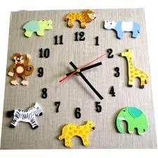 horloge chambre bébé horloge chambre enfant savane billes de clowns