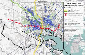 Metro Redline Map The Baltimore Red Line Light Rail System
