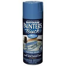 shop rust oleum 12 oz natural denim gloss spray paint at lowes com