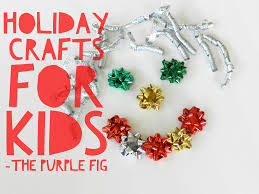 holiday crafts for kids purple fig cleaners