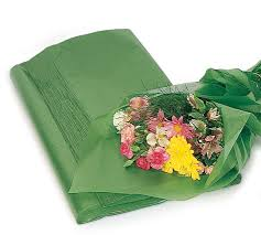 floral tissue paper waxed tissue paper 25 large sheets green waxed floral tissue paper