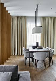 Pendant Lighting Over Dining Table Apartment Dining Room Moscow Panoramic View Apartment By