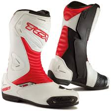 discount motorcycle boots tcx s sportour evo motorcycle boots racing red white tcx cru
